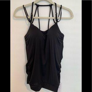Athleta Swim - New! Athleta aqualuxe black tanking M padded top